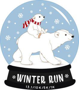 winter race medal